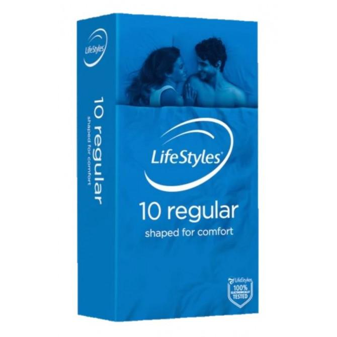 LifeStyles Regular Condoms 10 Pack - Vital Pharmacy Supplies