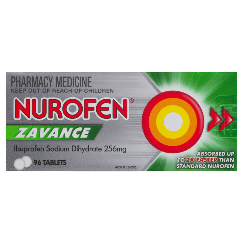 Nurofen Zavance Tablets 96 Tablets - Vital Pharmacy Supplies