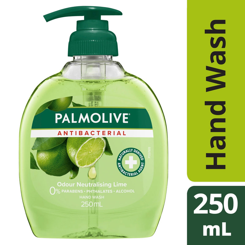 Palmolive Antibacterial Liquid Hand Wash Soap Lime 250mL - Vital Pharmacy Supplies