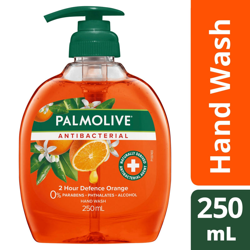 Palmolive Antibacterial Liquid Hand Wash Soap Orange 250mL - Vital Pharmacy Supplies