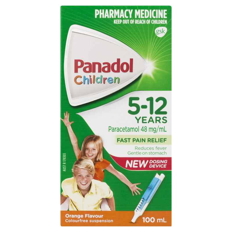 Panadol Children (5-12 years) Orange 100mL - Vital Pharmacy Supplies