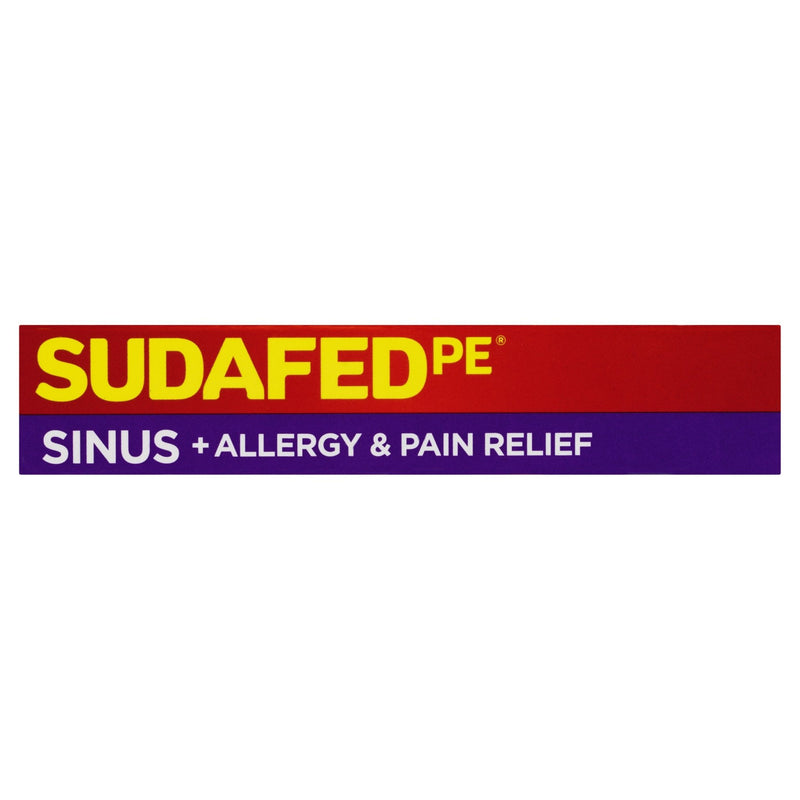 SUDAFED PE Sinus + Allergy & Pain Relief 24 Tablets - Vital Pharmacy Supplies