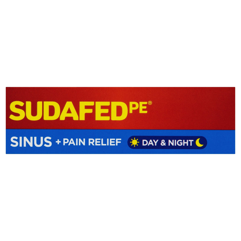 SUDAFED PE Sinus + Pain Relief Day & Night 24 Tablets - Vital Pharmacy Supplies