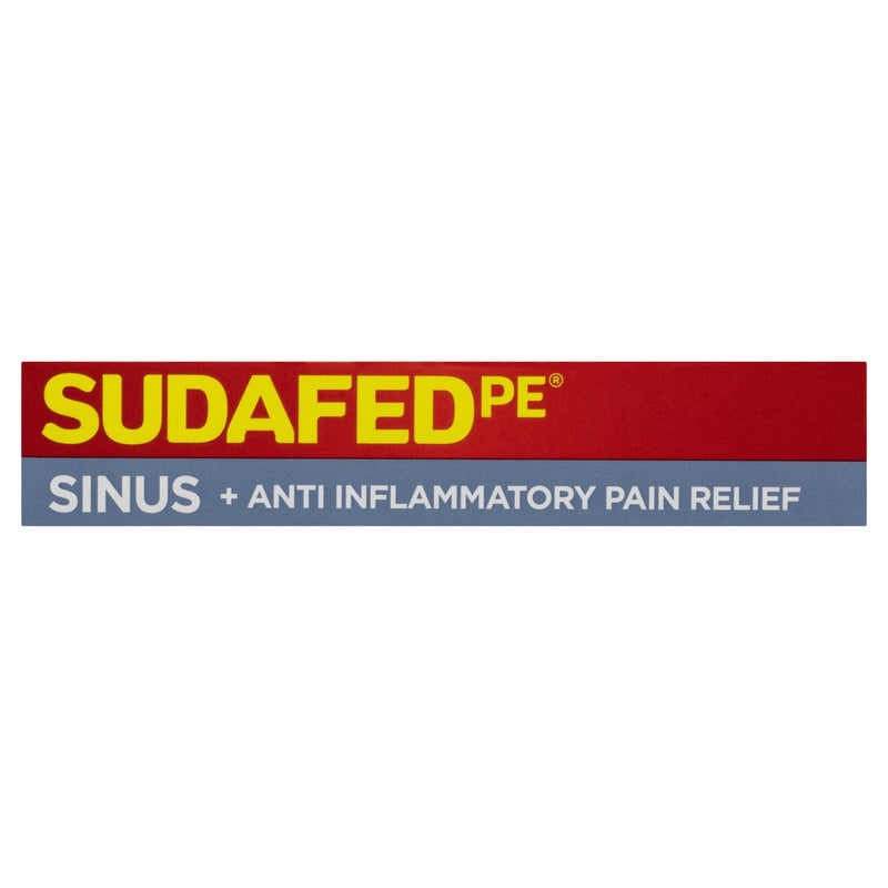 SUDAFED PE Sinus+Anti-Inflammatory Pain Relief 24 Tablets - Vital Pharmacy Supplies