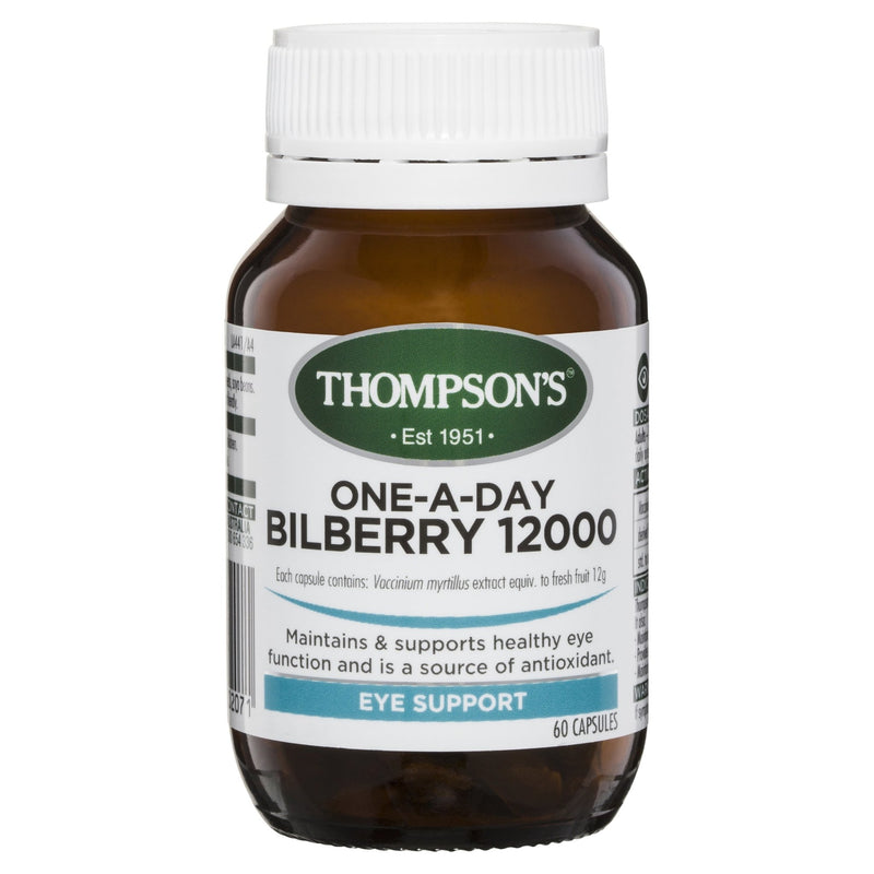 Thompson's One-A-Day Bilberry 12000MG 60 Capsules - Vital Pharmacy Supplies