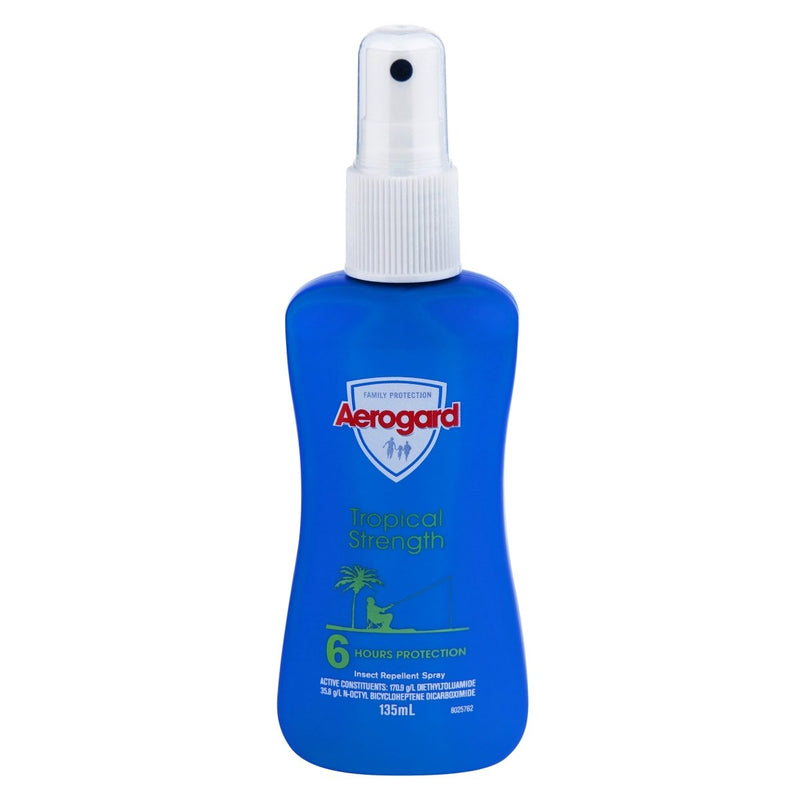 Aerogard Tropical Strength Insect Repellent Pump Spray 135mL - Vital Pharmacy Supplies
