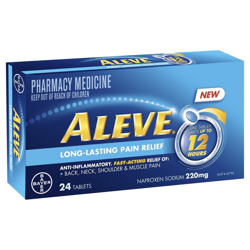 Aleve 12 hour Anti-Inflammatory Tablets 24 pack - Vital Pharmacy Supplies