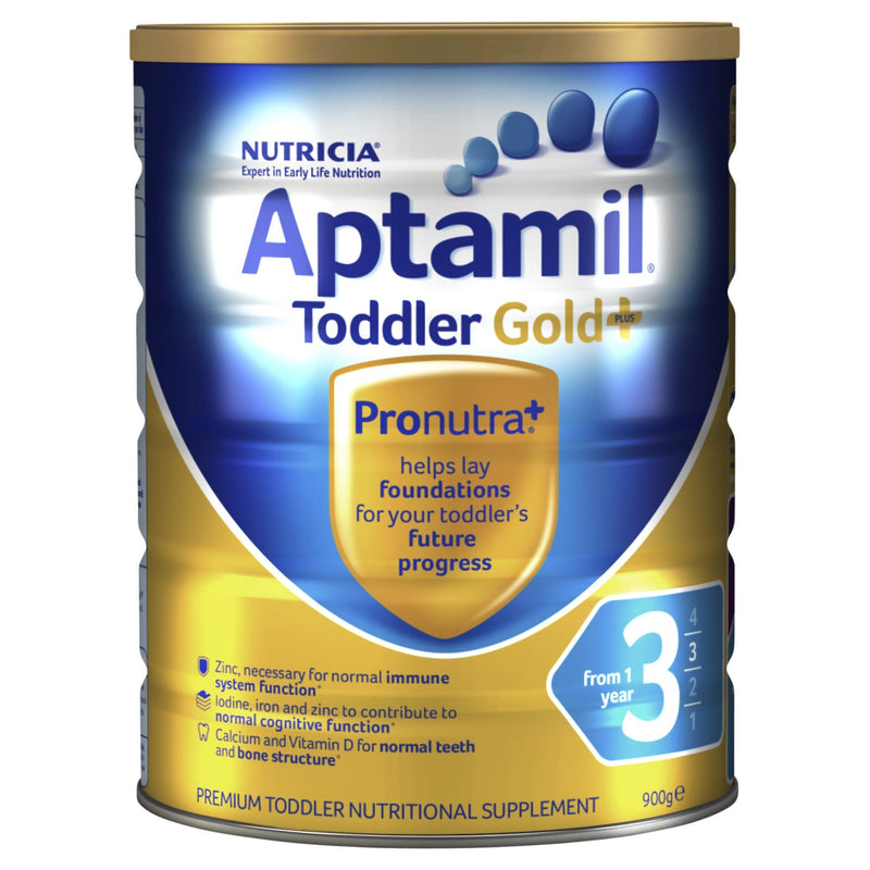Aptamil Gold+ 3 Toddler Milk Drink From 1 Year 900g - Vital Pharmacy Supplies