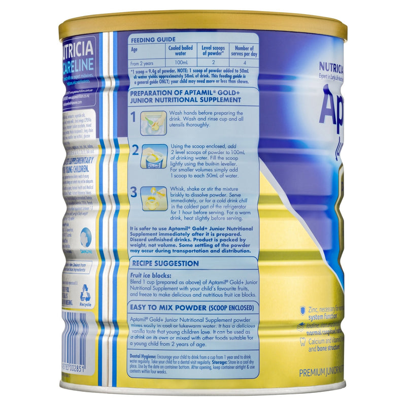 Aptamil Gold+ 4 Junior Nutritional Supplement Milk Drink From 2 Years 900g - Vital Pharmacy Supplies