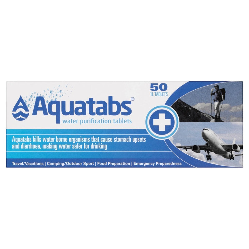 Aquatabs Water Purification Tablets 50 Pack - Vital Pharmacy Supplies