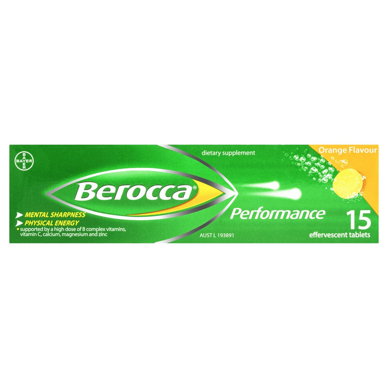 Berocca Performance Orange 15 Tablets - Vital Pharmacy Supplies