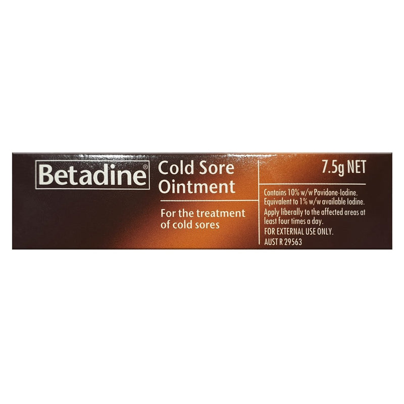 Betadine Cold Sore Ointment 7.5g - Vital Pharmacy Supplies