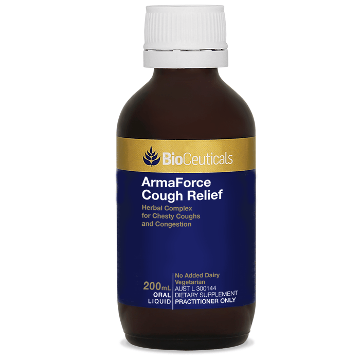 BioCeuticals ArmaForce Cough Relief 200mL - Vital Pharmacy Supplies