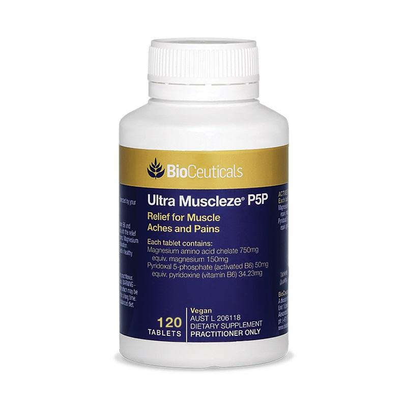 BioCeuticals Ultra Muscleze P5P 120 Tablets - Vital Pharmacy Supplies