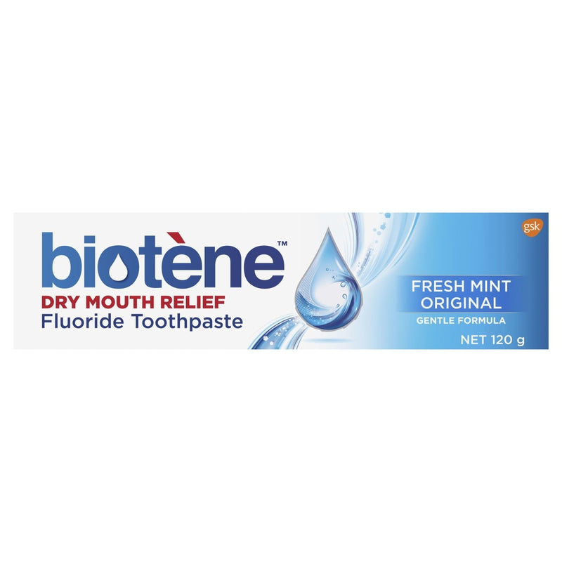 Biotene Dry Mouth Relief Fluoride Toothpaste Fresh Mint Original 120g - Vital Pharmacy Supplies