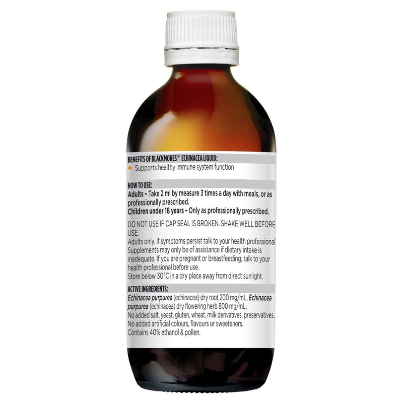 Blackmores Echinacea Liquid 50mL - Vital Pharmacy Supplies