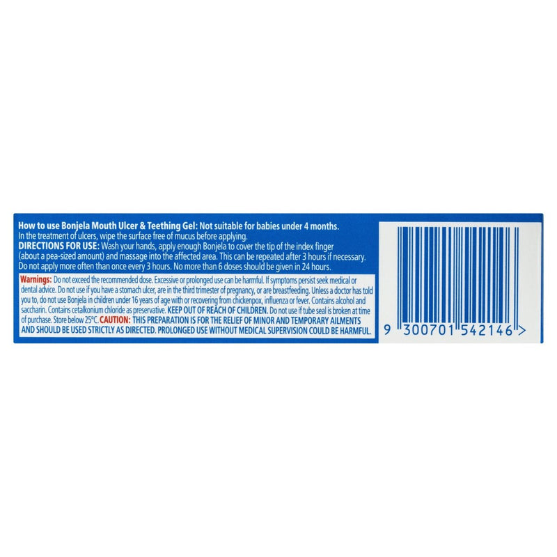 Bonjela Mouth Ulcer and Teething Gel 15g - Vital Pharmacy Supplies
