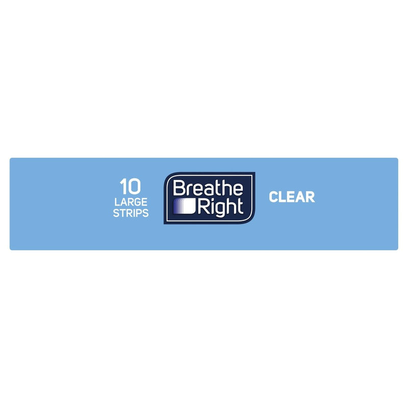 Breathe Right Clear Large Nasal Strips 10s - Vital Pharmacy Supplies