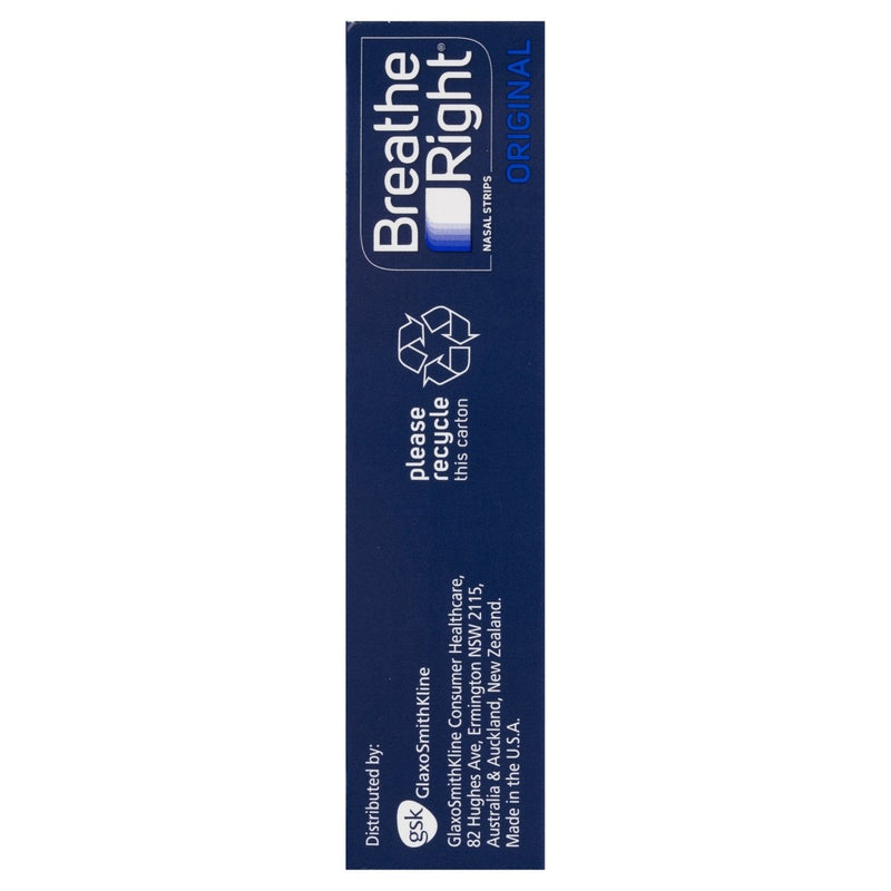 Breathe Right Original Nasal Congestion Stop Snoring Strips Large 30 Strips - Vital Pharmacy Supplies