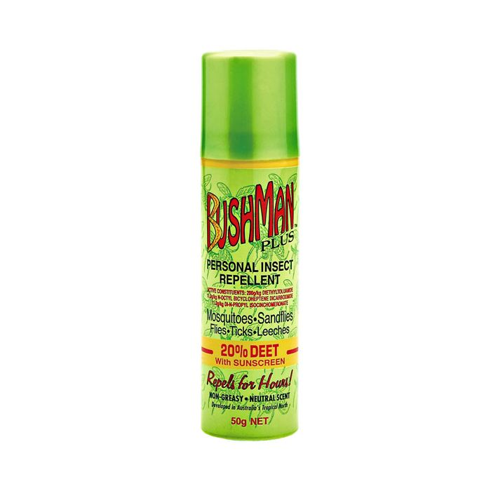 Bushman PLUS Repellent with Sunscreen Aerosol 50g - Vital Pharmacy Supplies