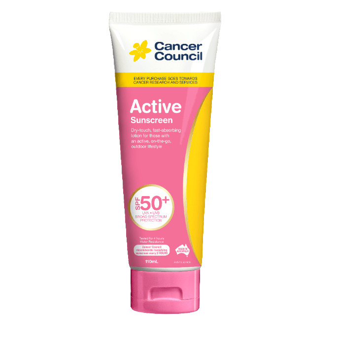 Cancer Council Active Pink Sunscreen SPF50+ 110mL - Vital Pharmacy Supplies