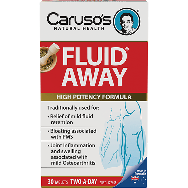 Caruso's Fluid Away 30 Tablets - Vital Pharmacy Supplies