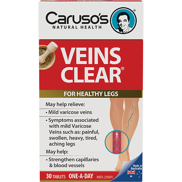 Caruso's Veins Clear 30 Tablets - Vital Pharmacy Supplies