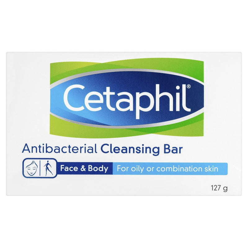 Cetaphil Antibacterial Cleansing Bar 127g - Vital Pharmacy Supplies