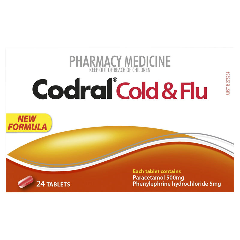 CODRAL Cold & Flu 24 Tablets - Vital Pharmacy Supplies