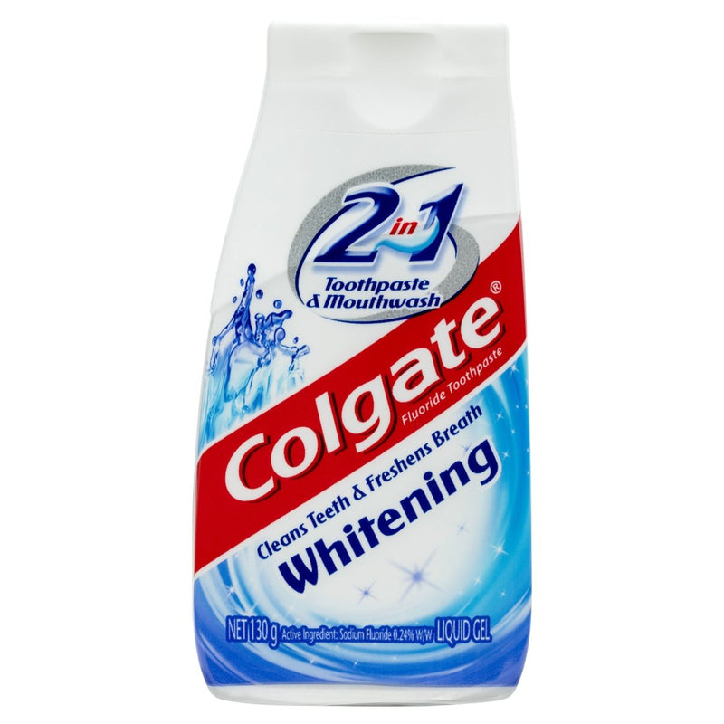 Colgate 2 in 1 Toothpaste & Mouthwash Whitening 130g - Vital Pharmacy Supplies