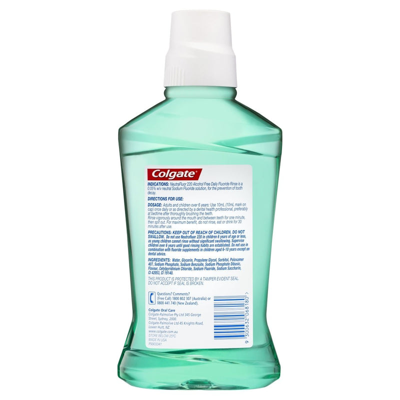 Colgate NeutraFluor 220 Daily Fluoride Alcohol Free Mouthwash Mint 473mL - Vital Pharmacy Supplies