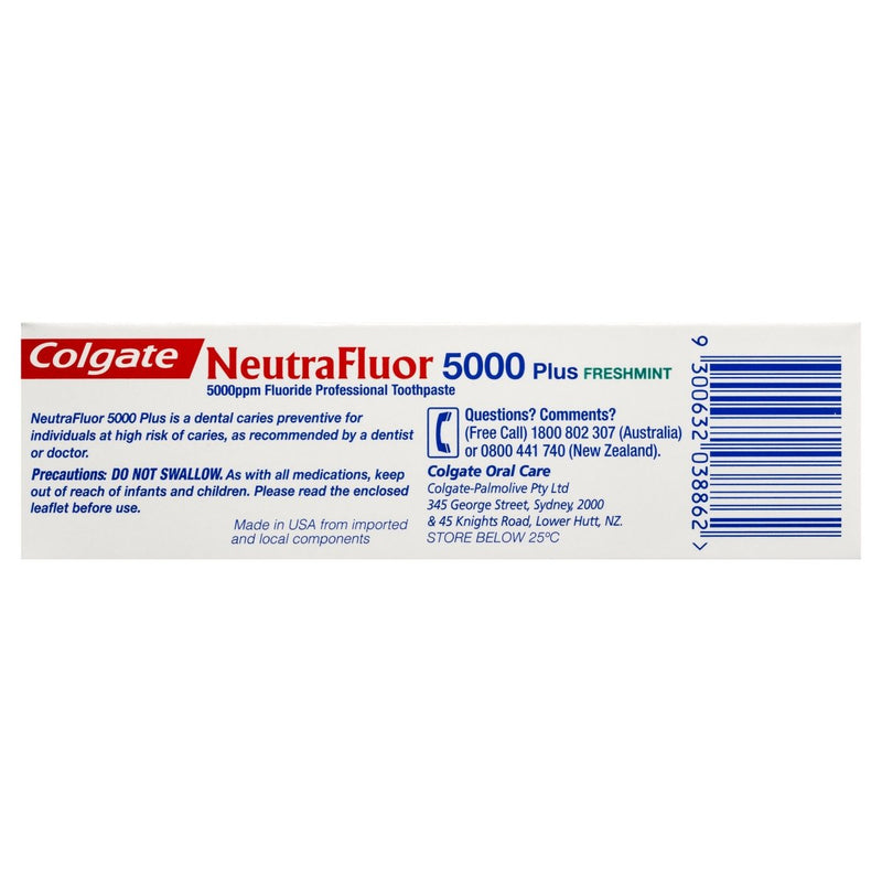 Colgate NeutraFluor 5000 Plus Fluoride Toothpaste 56g - Vital Pharmacy Supplies