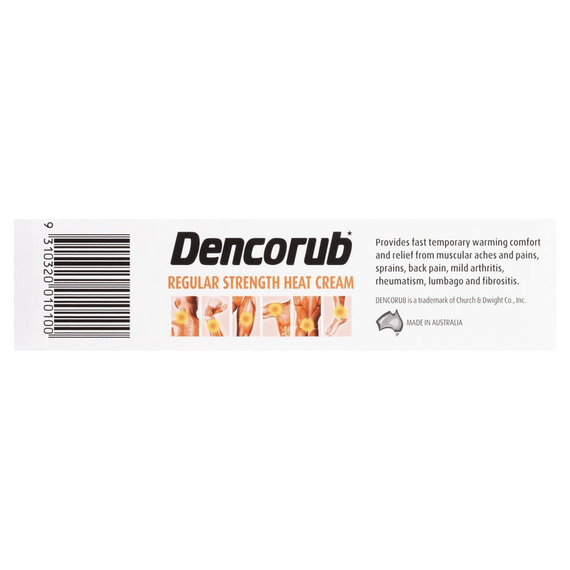 Dencorub Regular Strength Heat Cream 100g - Vital Pharmacy Supplies