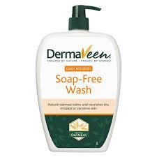 DermaVeen Daily Nourish Soap-Free Wash for Dry & Sensitive Skin 1L - Vital Pharmacy Supplies