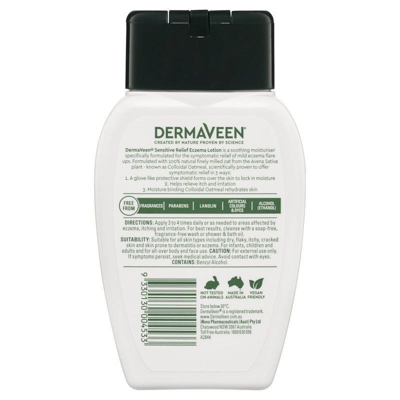 DermaVeen Sensitive Relief Eczema Lotion 250mL - Vital Pharmacy Supplies