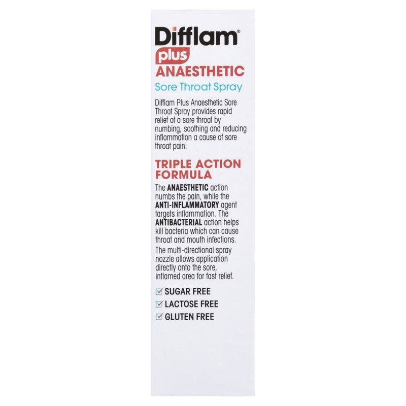 Difflam Plus Sore Throat Spray 30mL - Vital Pharmacy Supplies