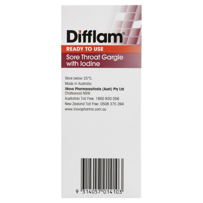 Difflam Throat Gargle With Iodine 200mL - Vital Pharmacy Supplies