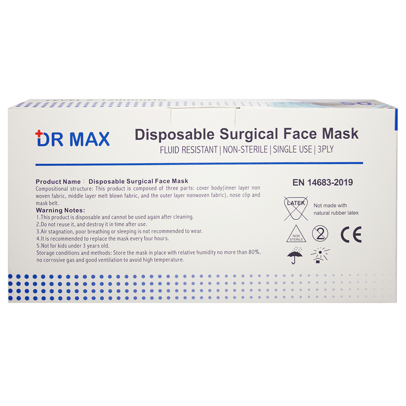 Dr Max Surgical Masks 50 Pack - Vital Pharmacy Supplies