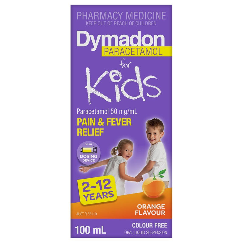 Dymadon for Kids 2-12 Years Orange 100mL - Vital Pharmacy Supplies