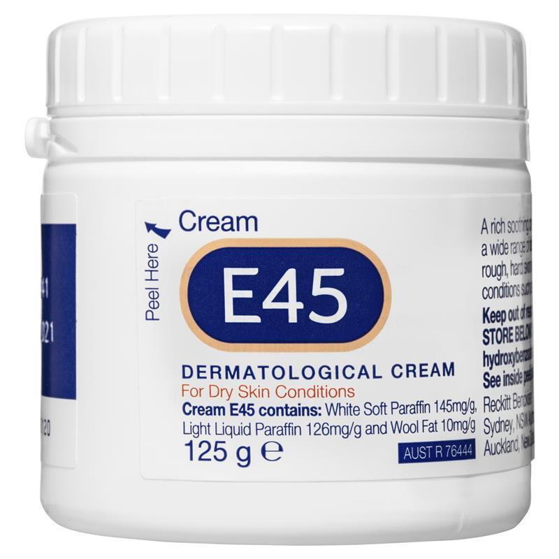 E45 Moisturising Cream for Dry Skin & Eczema 125g - Vital Pharmacy Supplies