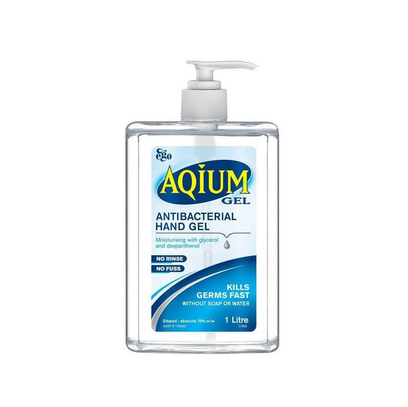 Ego Aqium Hand Sanitiser 1L - Vital Pharmacy Supplies