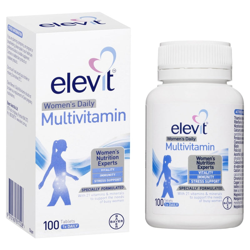 Elevit Women's Daily Multivitamin 100 Tablets - Vital Pharmacy Supplies