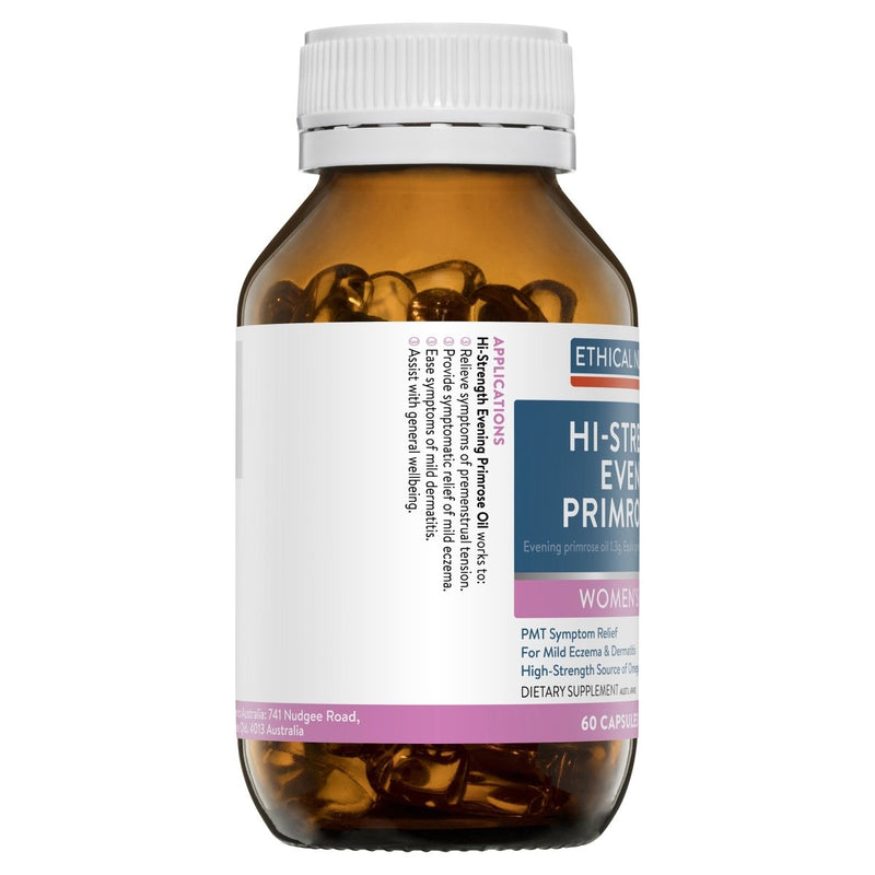 Ethical Nutrients Hi-Strength Evening Primrose Oil 60 Capsules - Vital Pharmacy Supplies