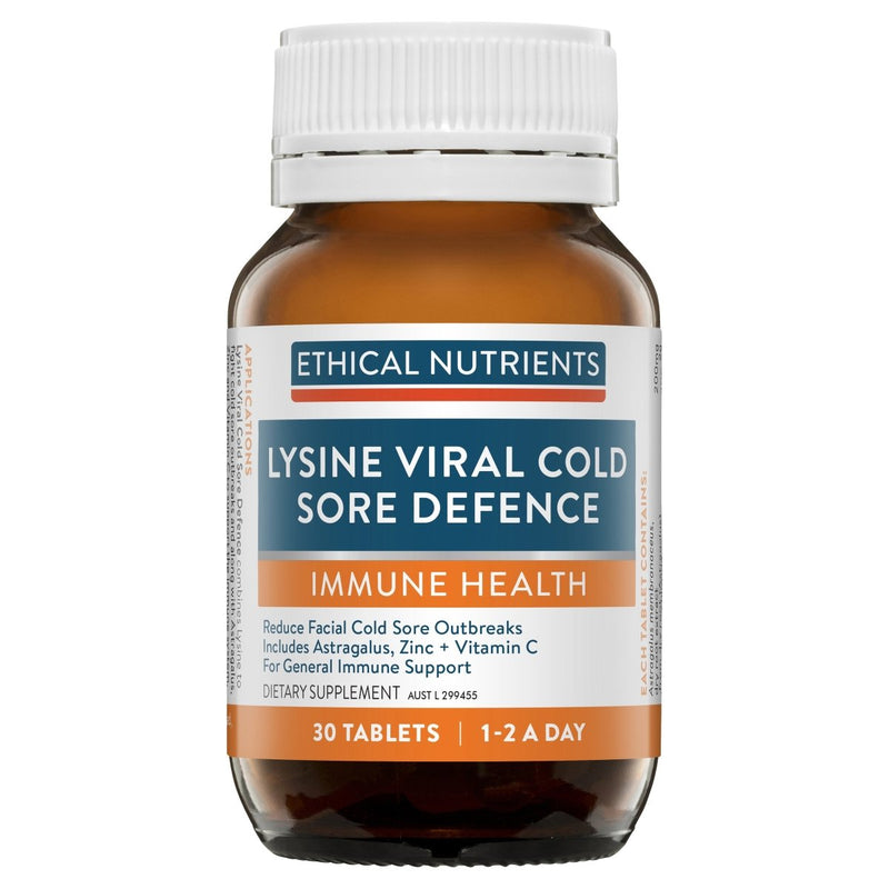 Ethical Nutrients Immuzorb Lysine Viral Cold Sore Defence 30 Tablets - Vital Pharmacy Supplies