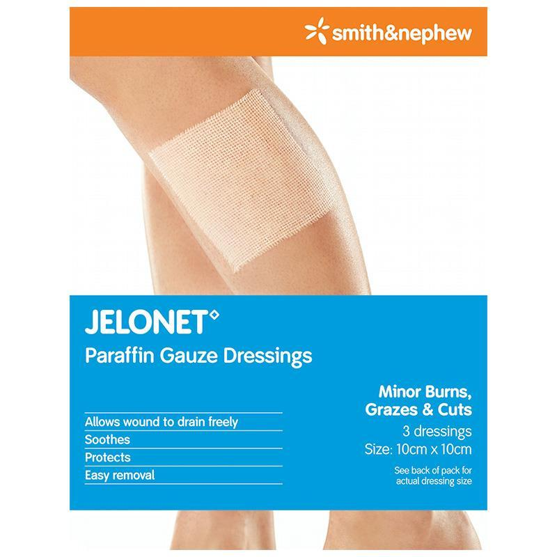 Jelonet 10cm x 10cm 3Pack - Vital Pharmacy Supplies