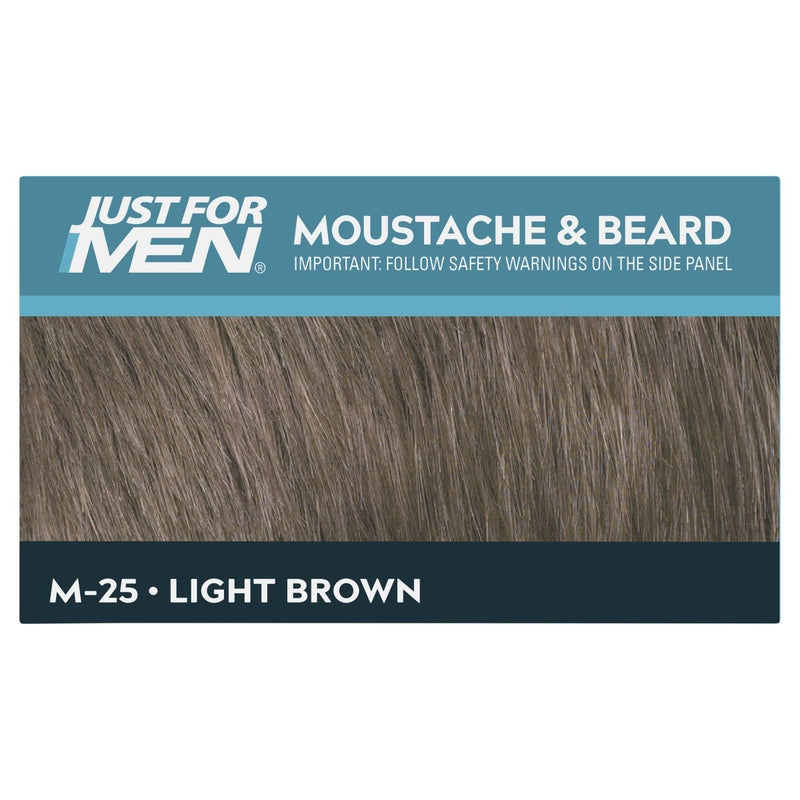 Just For Men Moustache & Beard Brush-In Colour Gel Light Brown - Vital Pharmacy Supplies