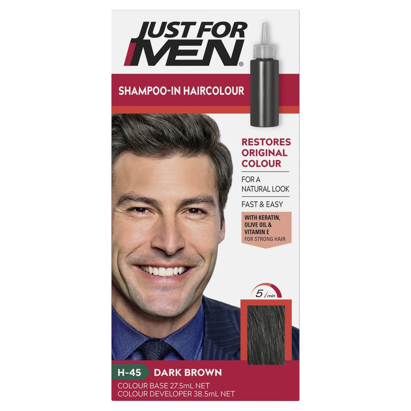 Just For Men Shampoo-In Hair Colour Dark Brown - Vital Pharmacy Supplies