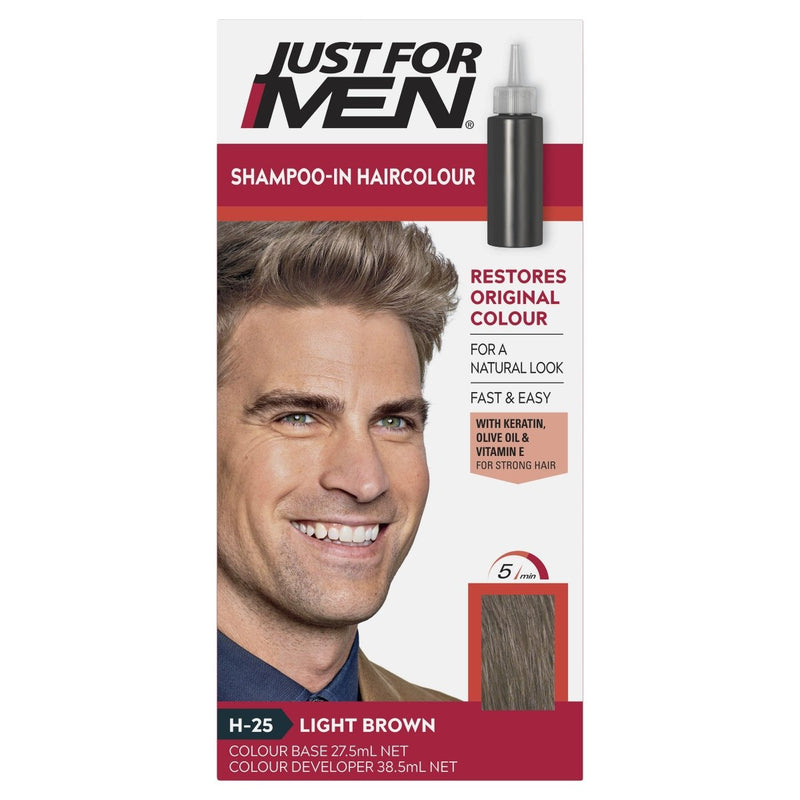 Just For Men Shampoo-In Hair Colour Light Brown - Vital Pharmacy Supplies