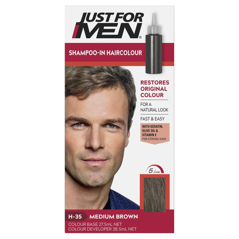 Just For Men Shampoo-In Hair Colour Medium Brown - Vital Pharmacy Supplies