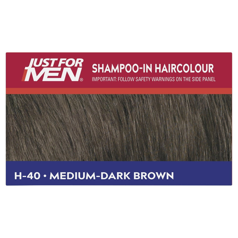 Just For Men Shampoo-In Hair Colour Medium Dark Brown - Vital Pharmacy Supplies